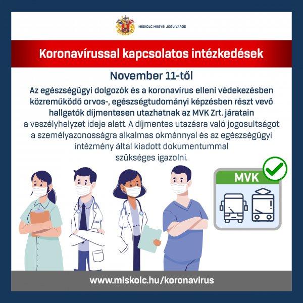 Egészségügyi dolgozók ingyen utazása