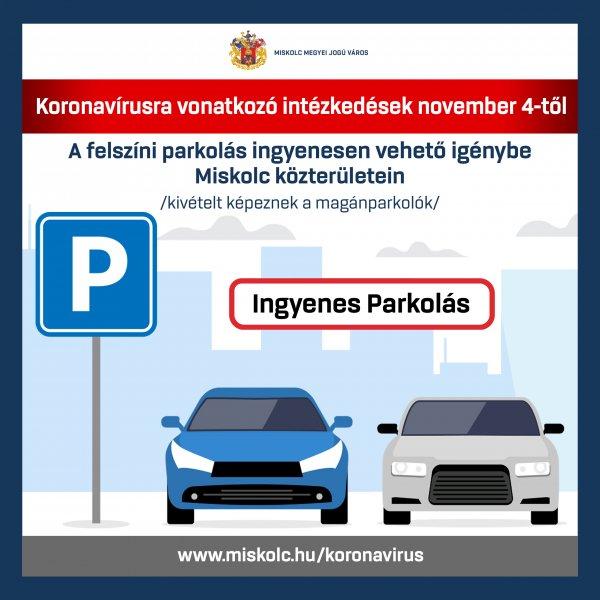 Ingyenes a parkolás
